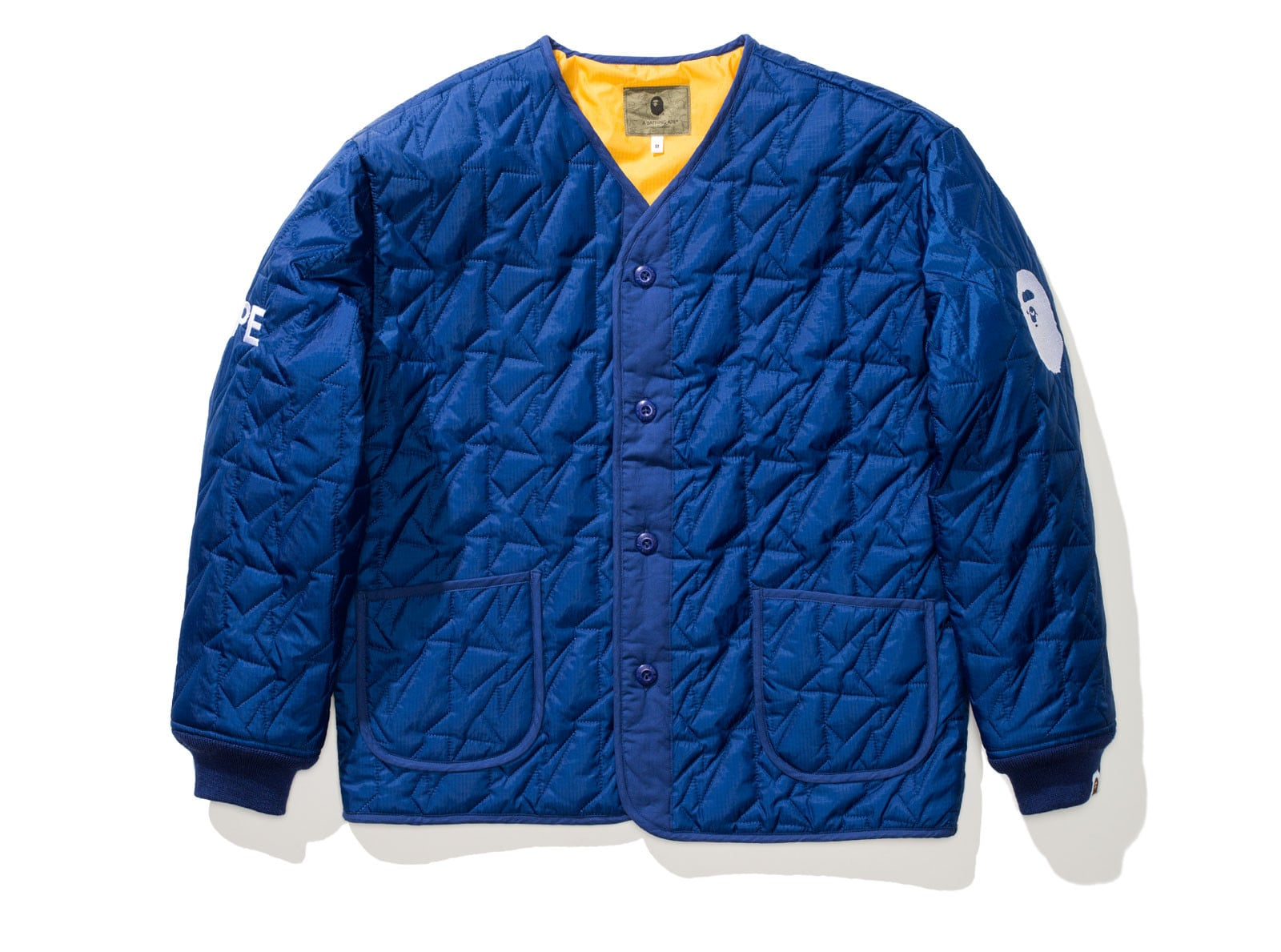 BAPE QUILTED JACKET - NAVY
