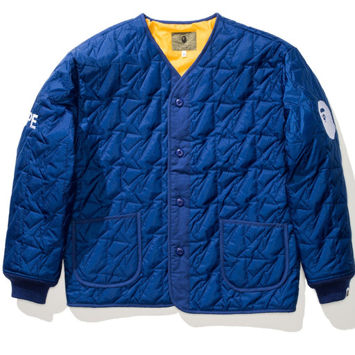 BAPE QUILTED JACKET - NAVY Image 1
