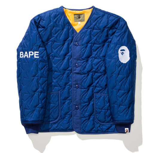 BAPE QUILTED JACKET - NAVY Image 2