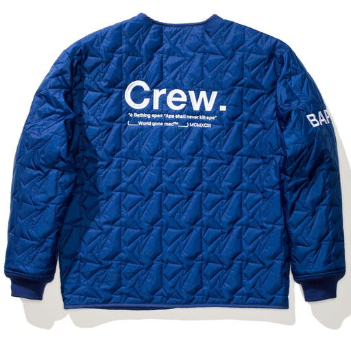 BAPE QUILTED JACKET - NAVY Image 3
