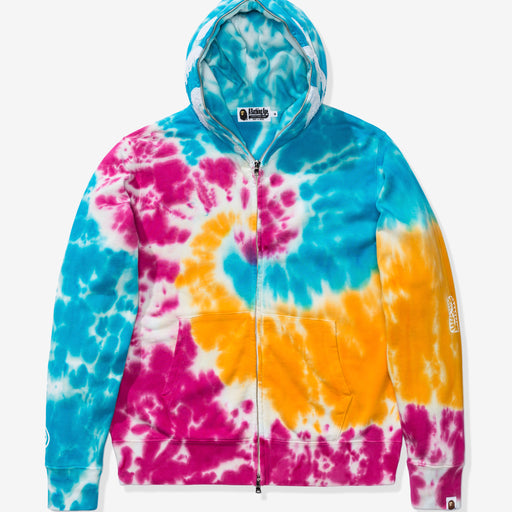 BAPE TIE DYE SHARK WIDE FULL ZIP HOODIE - MULTI Image 1