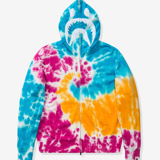 BAPE TIE DYE SHARK WIDE FULL ZIP HOODIE - MULTI Image 2