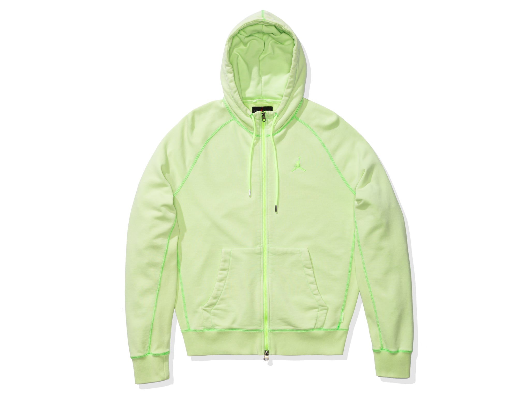 WINGS WASHED FLC FZ HOODIE - GHOSTGREEN