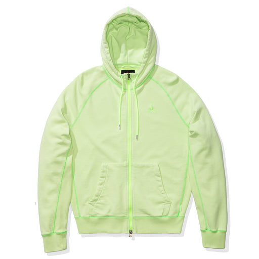 WINGS WASHED FLC FZ HOODIE - GHOSTGREEN Image 1