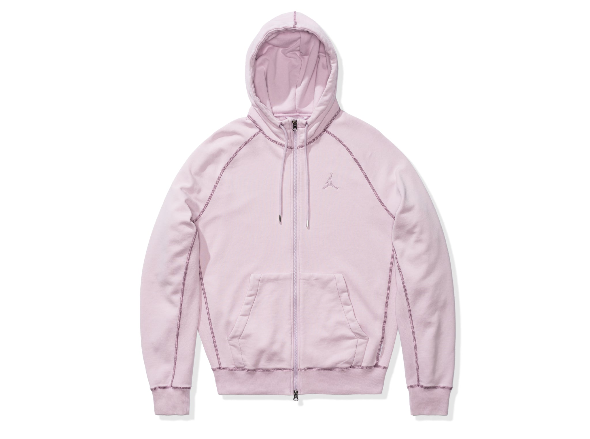 WINGS WASHED FLC FZ HOODIE - ICEDLILAC