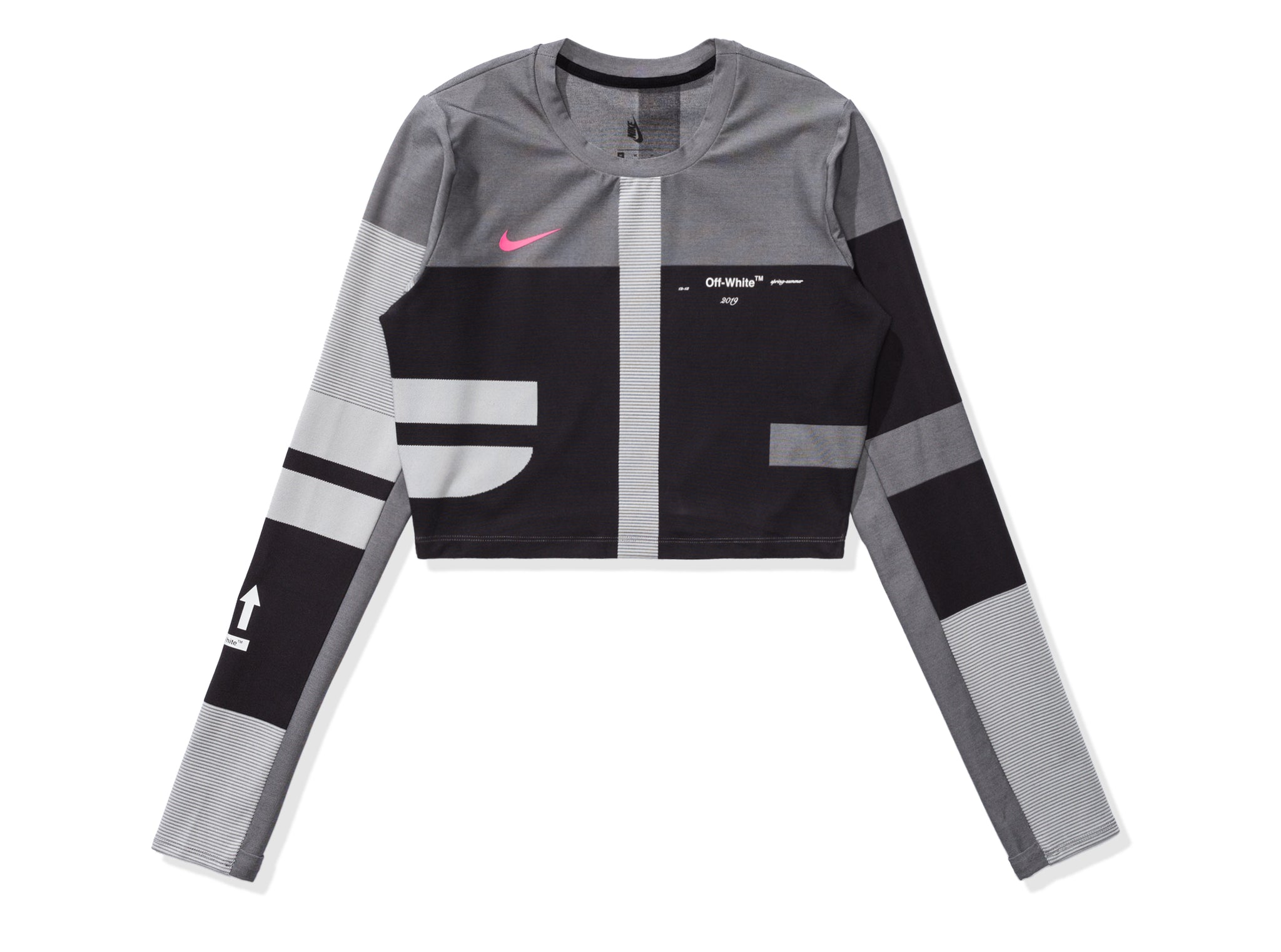 NIKE X OFF-WHITE WOMEN'S EASY RUN TOP - BLACK