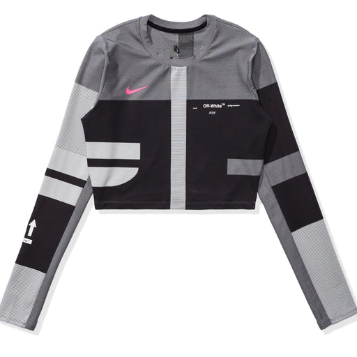 NIKE X OFF-WHITE WOMEN'S EASY RUN TOP - BLACK Image 1