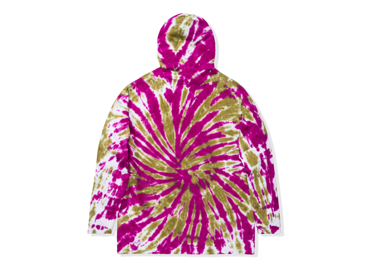 UNDEFEATED TIE DYED HOODED L/S TOP