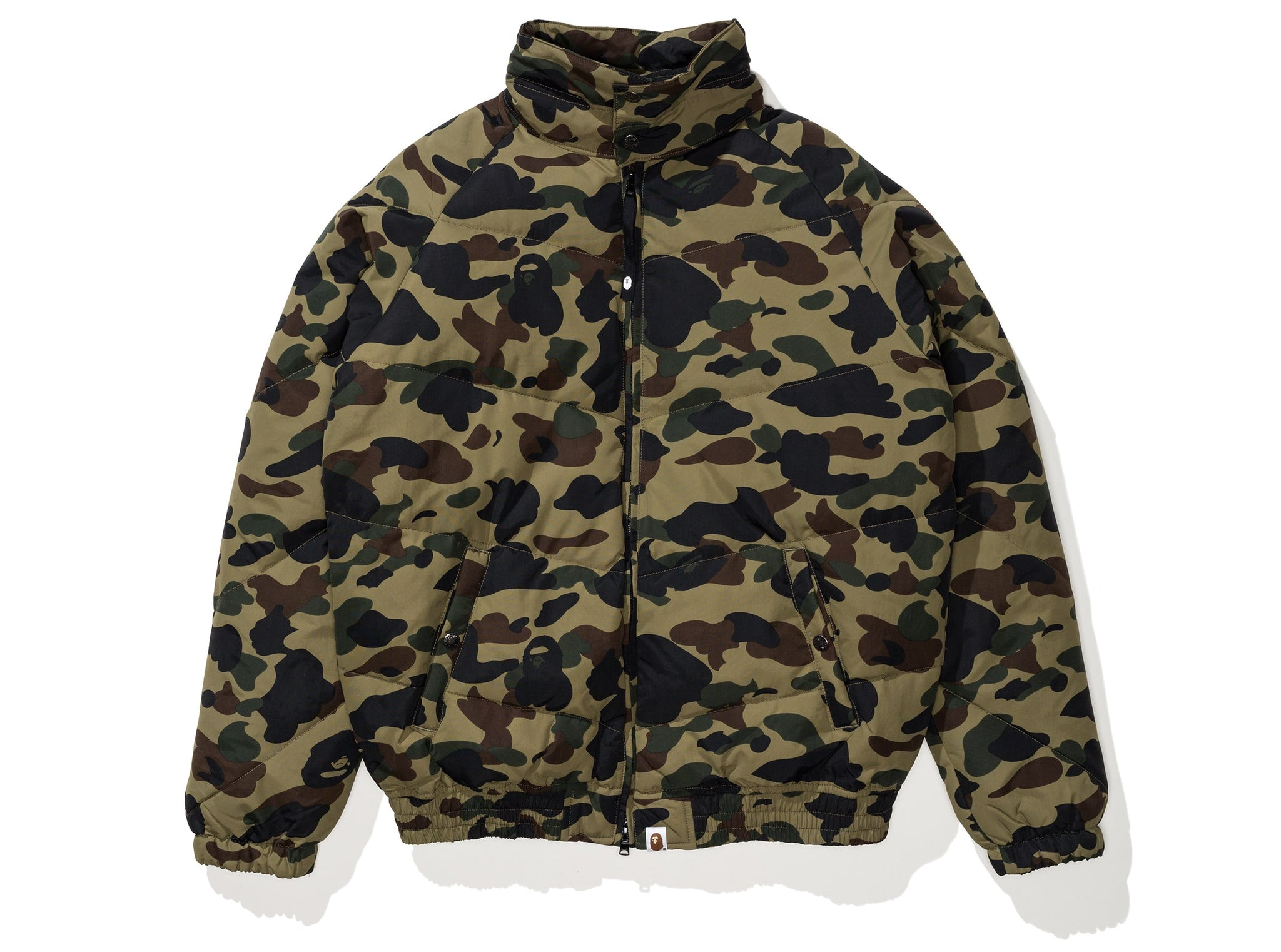 BAPE 1ST CAMO DOWN JACKET - GREEN