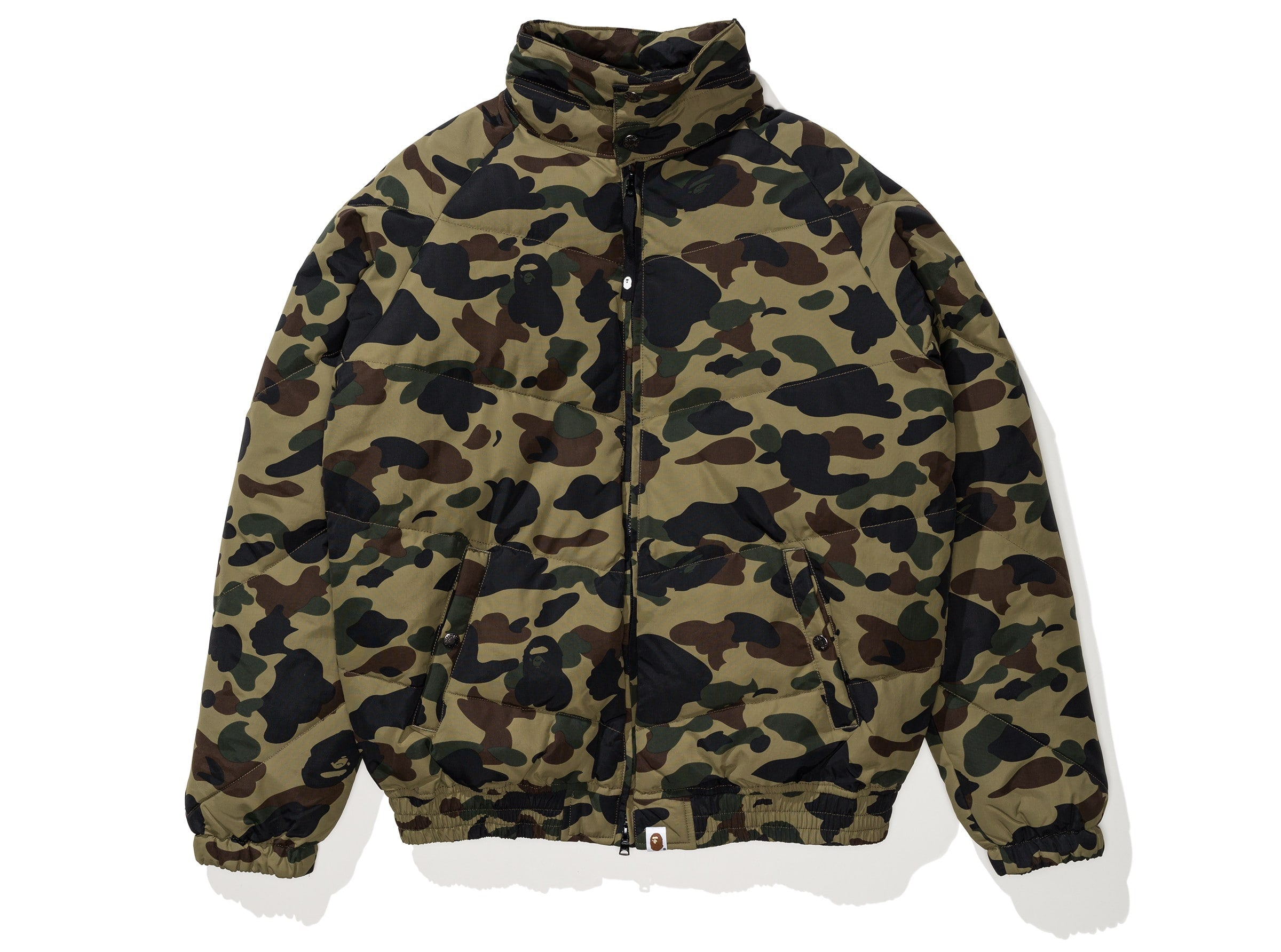 51600c3f BAPE 1ST CAMO DOWN JACKET - GREEN | Undefeated
