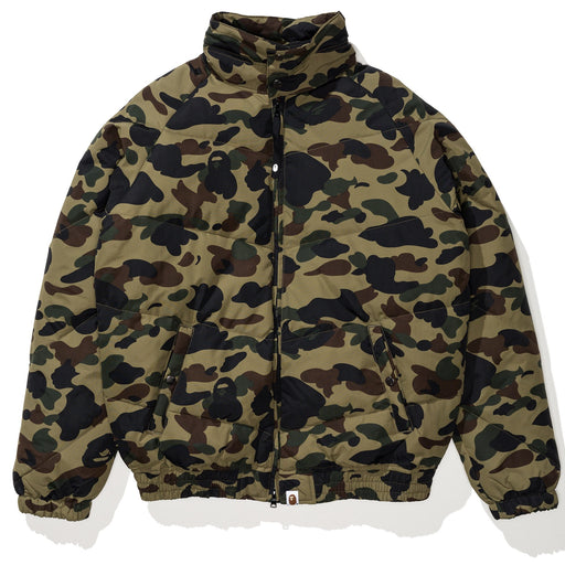 BAPE 1ST CAMO DOWN JACKET - GREEN Image 1