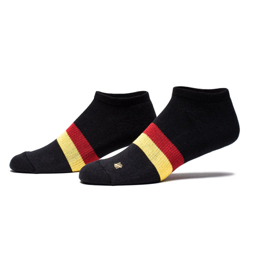 UNDEFEATED STRIPE ANKLE SOCK - BLACK