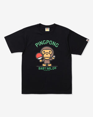 BAPE MILO PINGPONG SPORTS TEE - BLACK