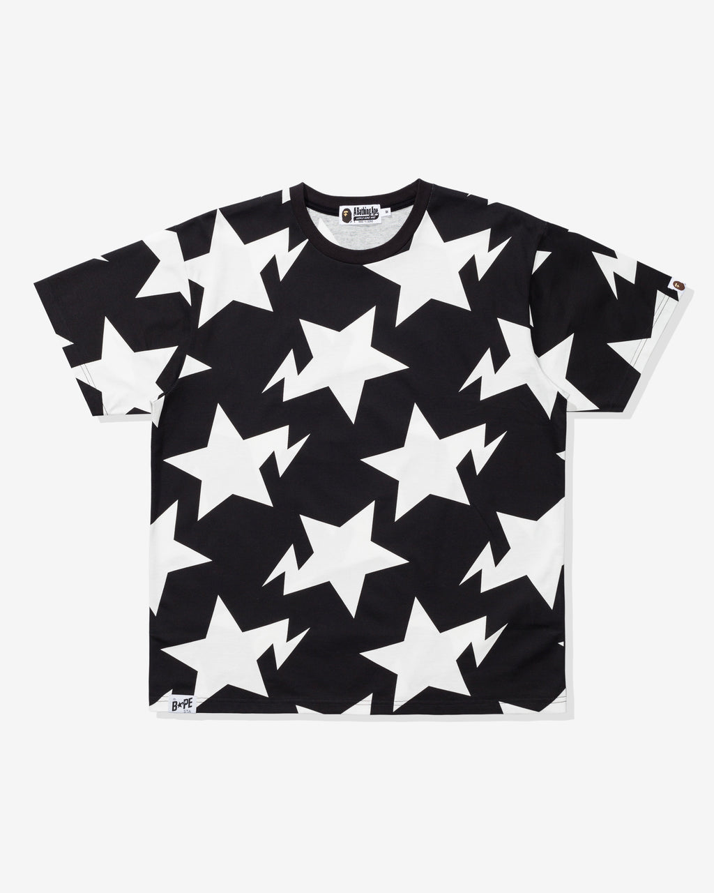 BAPE RELAXED STA PATTERN TEE - BLACK