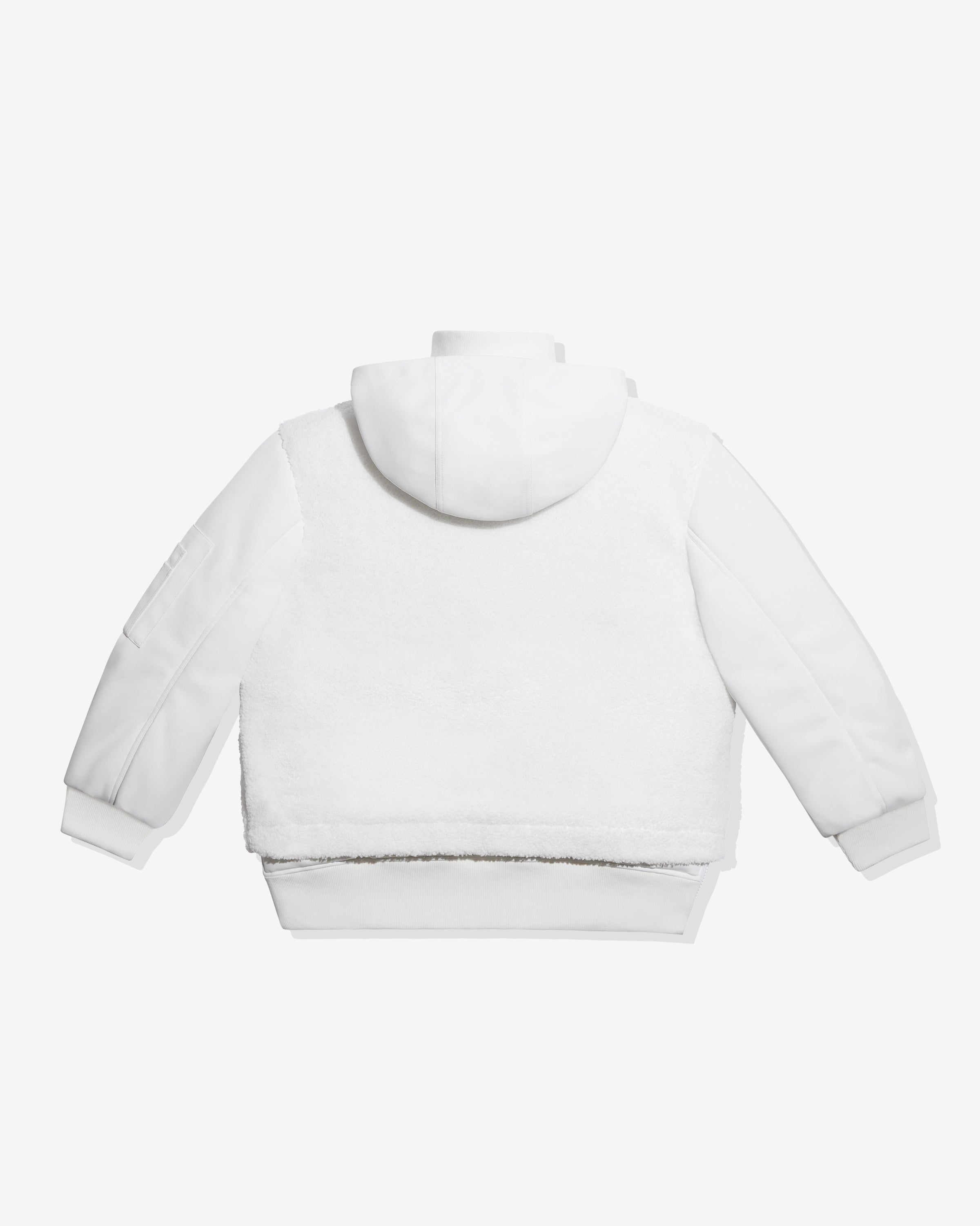 ADIDAS X IVY PARK 1/2 ZIP QUILTED SHERPA JACKET - COREWHITE