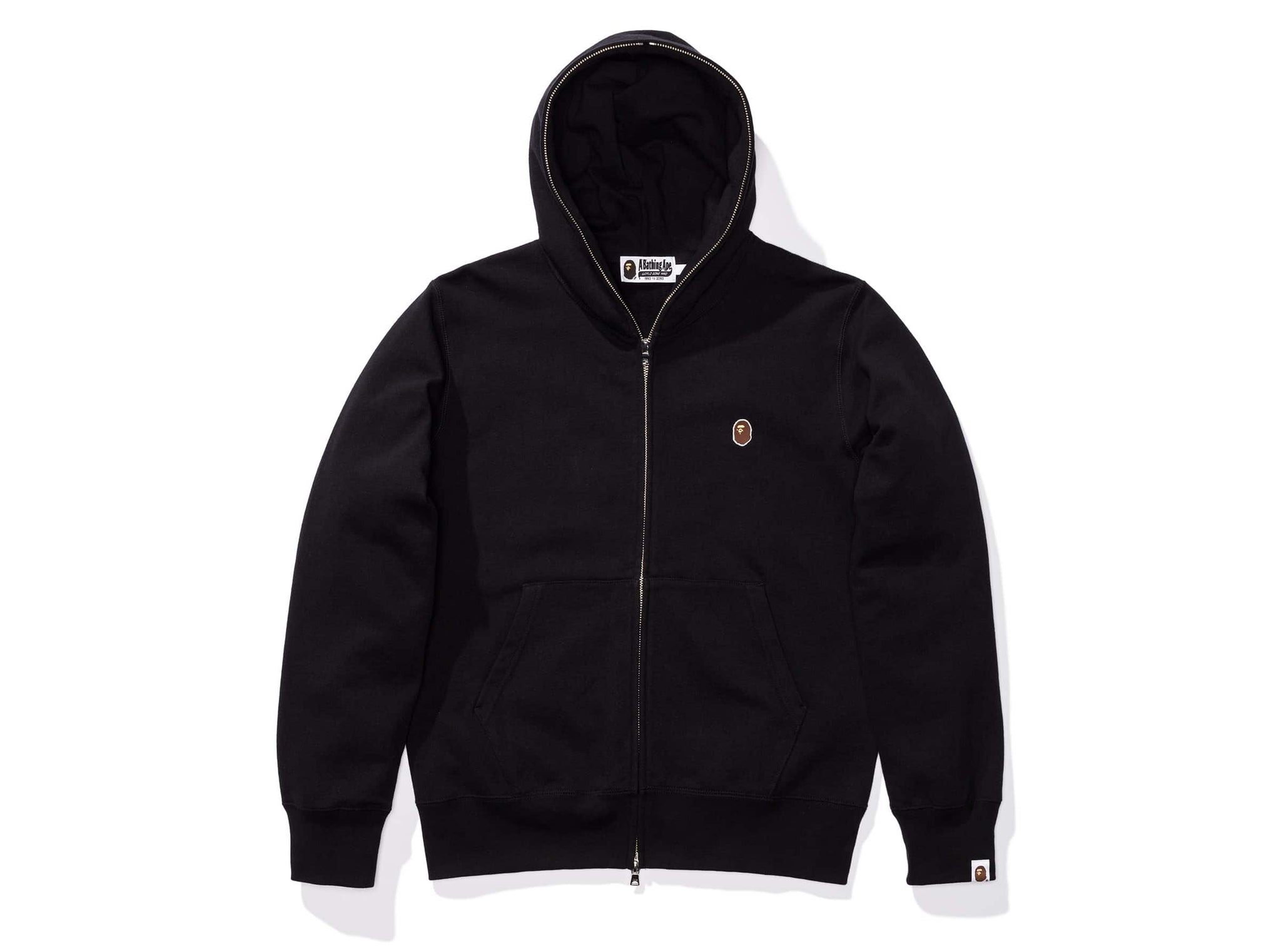 BAPE SILICON ONE POINT FULL ZIP HOODIE - BLACK