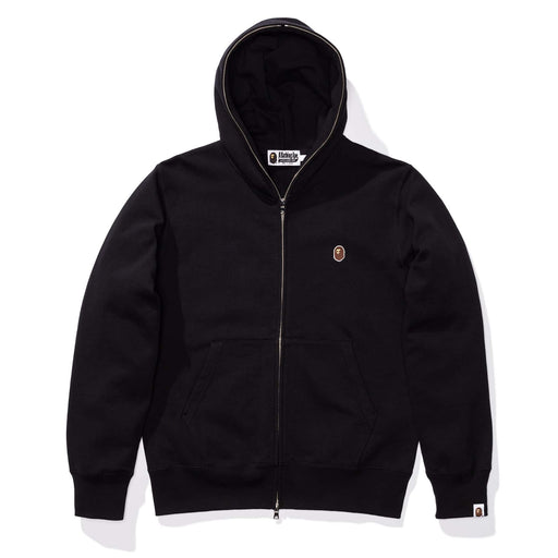 BAPE SILICON ONE POINT FULL ZIP HOODIE - BLACK Image 1