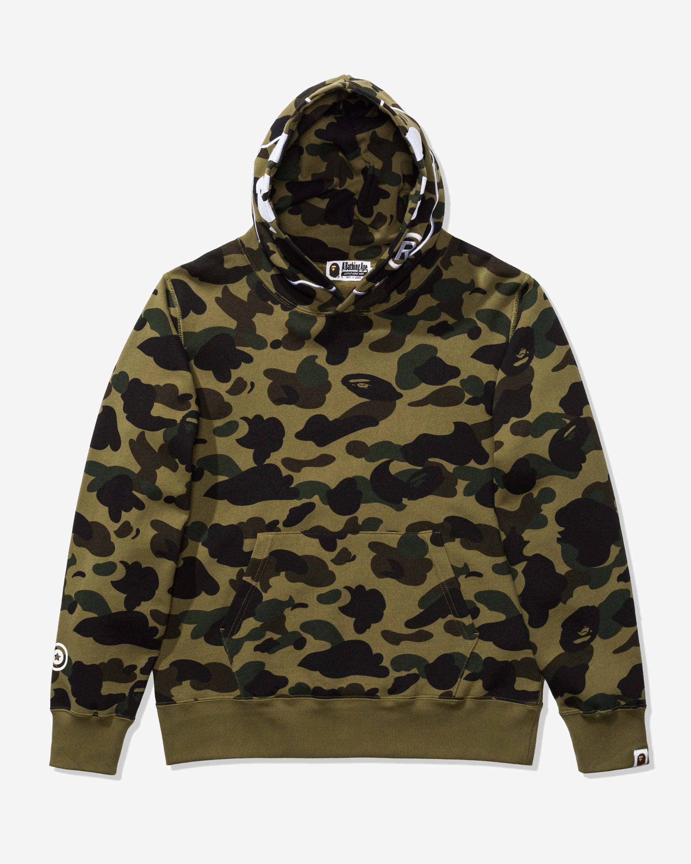 BAPE 1ST CAMO 2ND APE PULLOVER HOODIE - GREEN