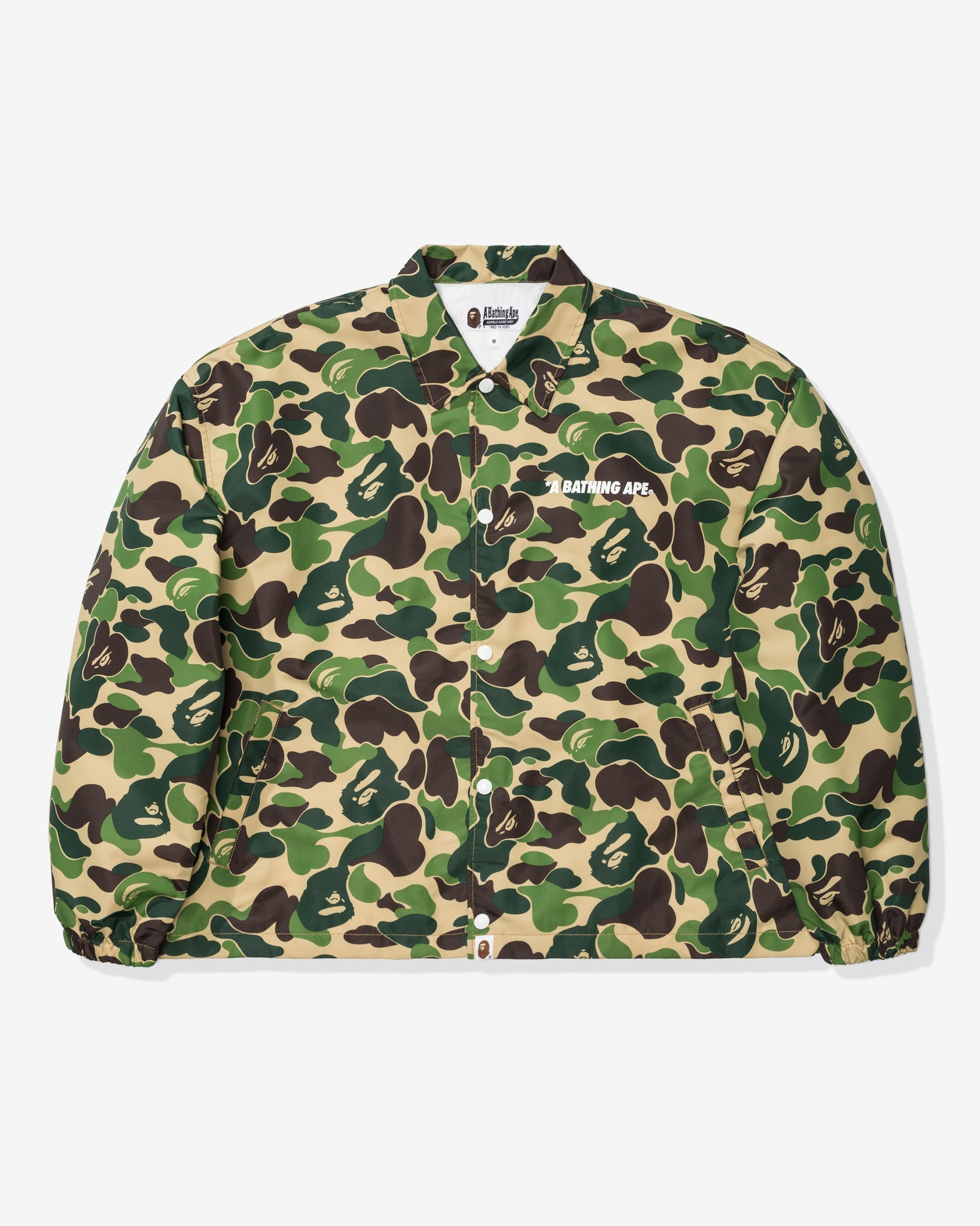 BAPE ABC CAMO RELAXED COACH JACKET - GREEN