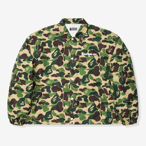 BAPE ABC CAMO RELAXED COACH JACKET - GREEN Image 1