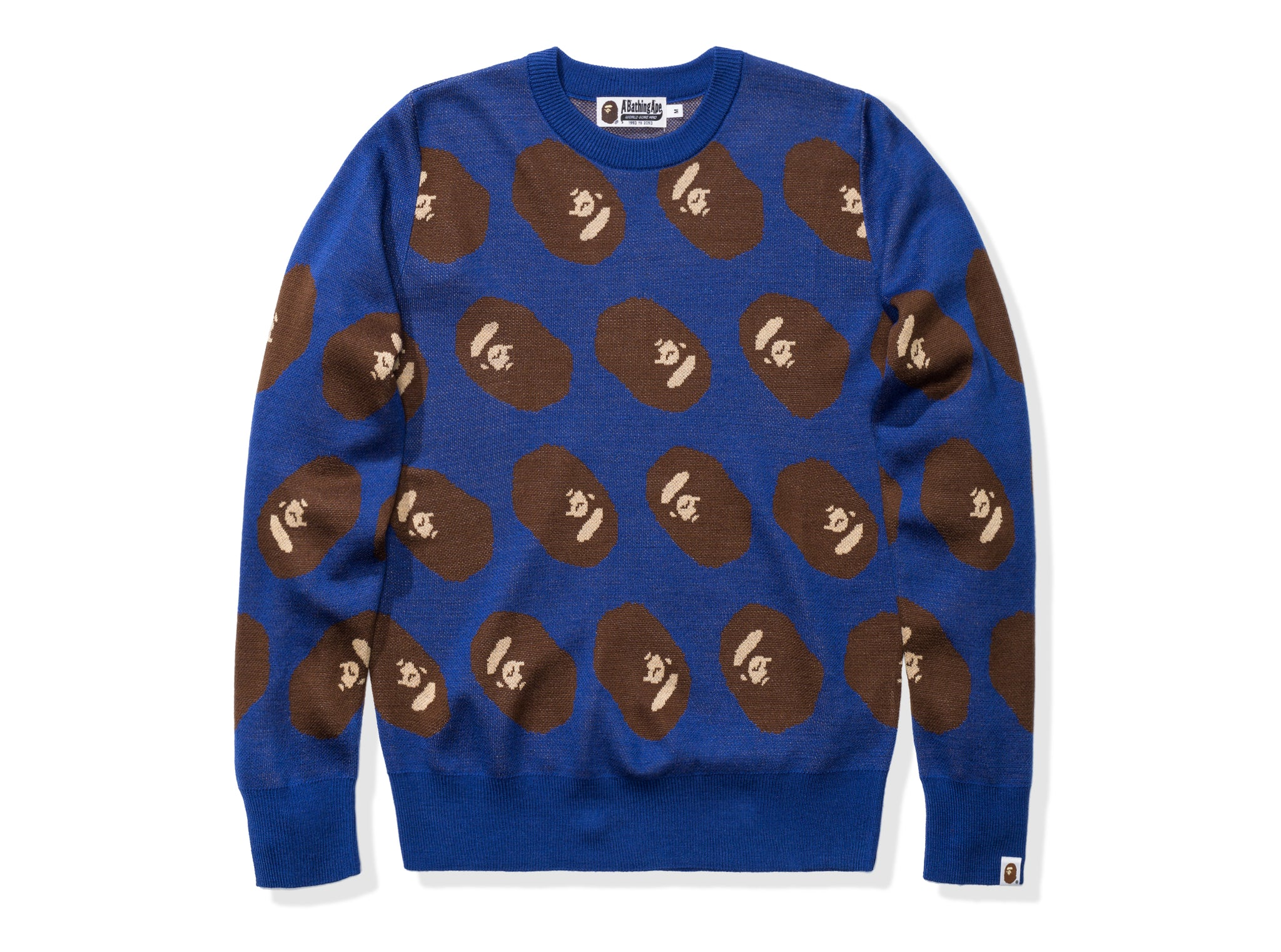 BAPE APE HEAD KNIT - BLUE