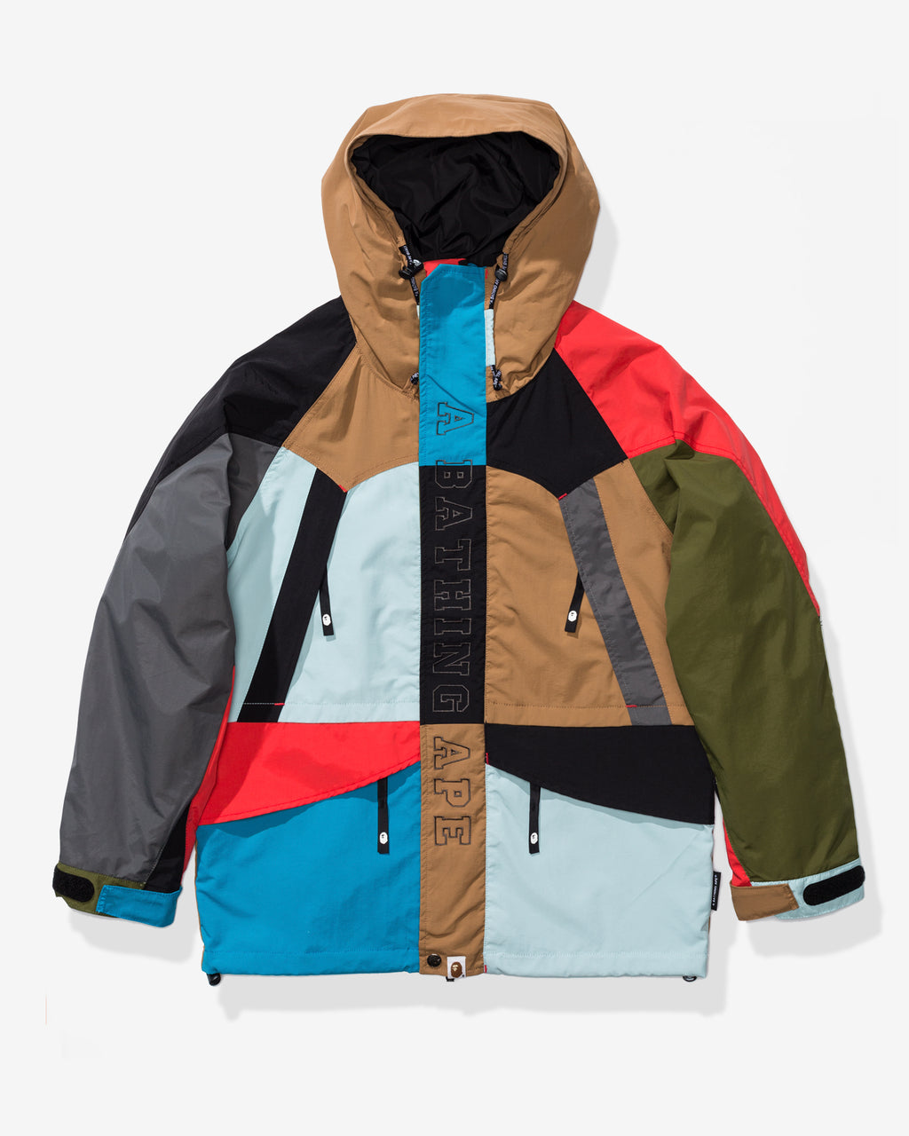 BAPE MULTI COLOR SNOWBOARD JACKET - MULTI