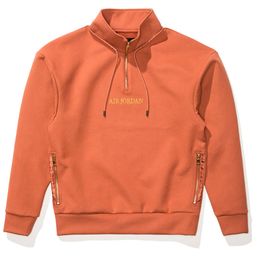 MJ REMASTERED 1/4 ZIP TOP - DUSTYPEACH/METALLICGOLD Image 1