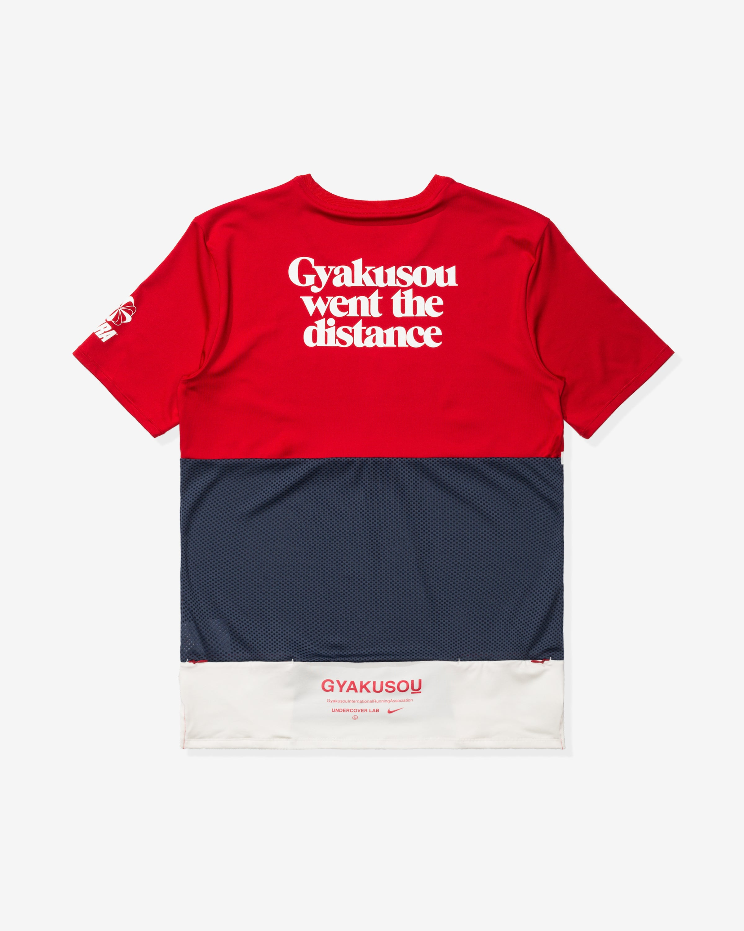 NIKE X GYAKUSOU NRG TOP SS - SPORTRED/THUNDERBLUE/SAIL