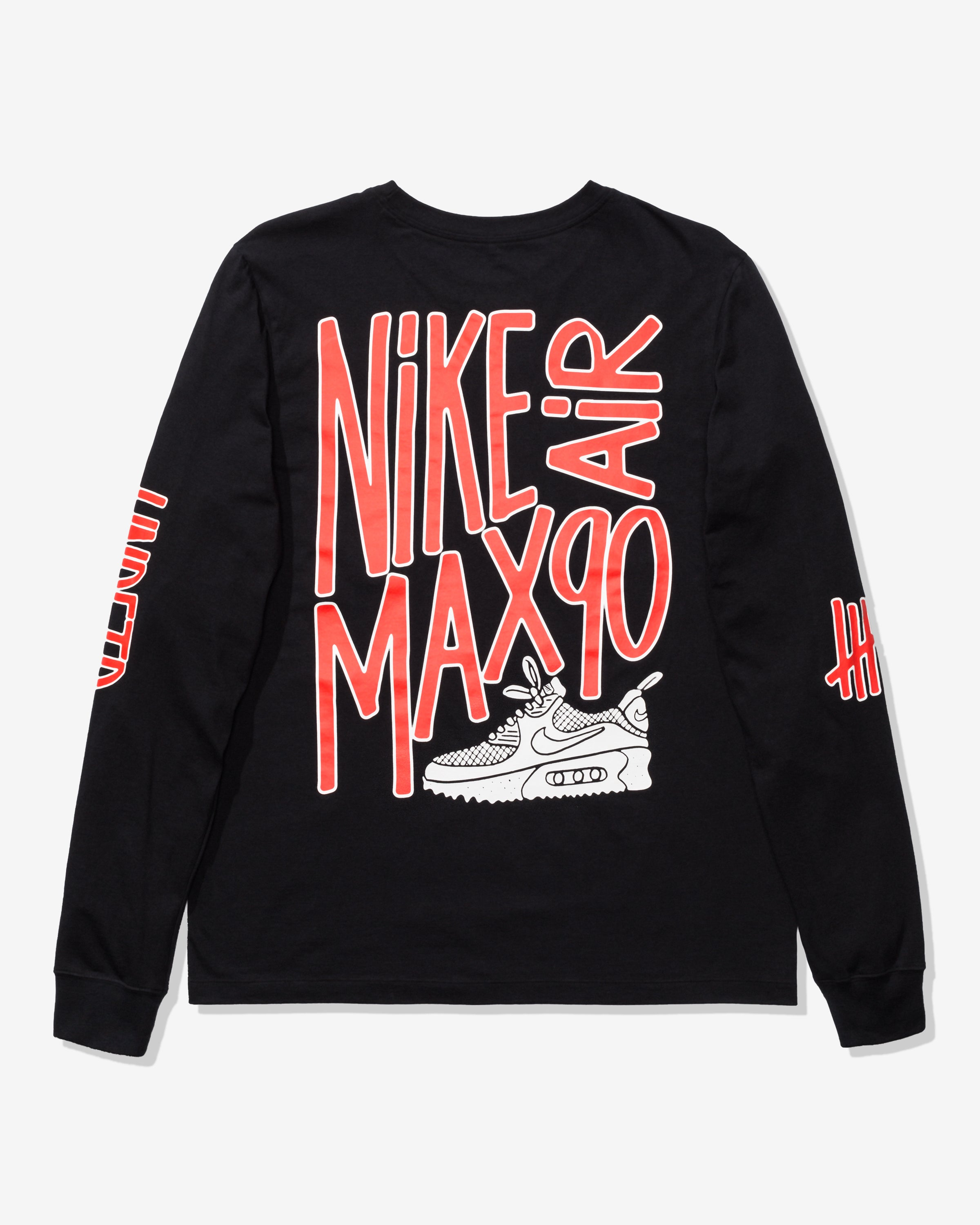 NIKE X UNDEFEATED AIR MAX 90 LS TEE - BLACK