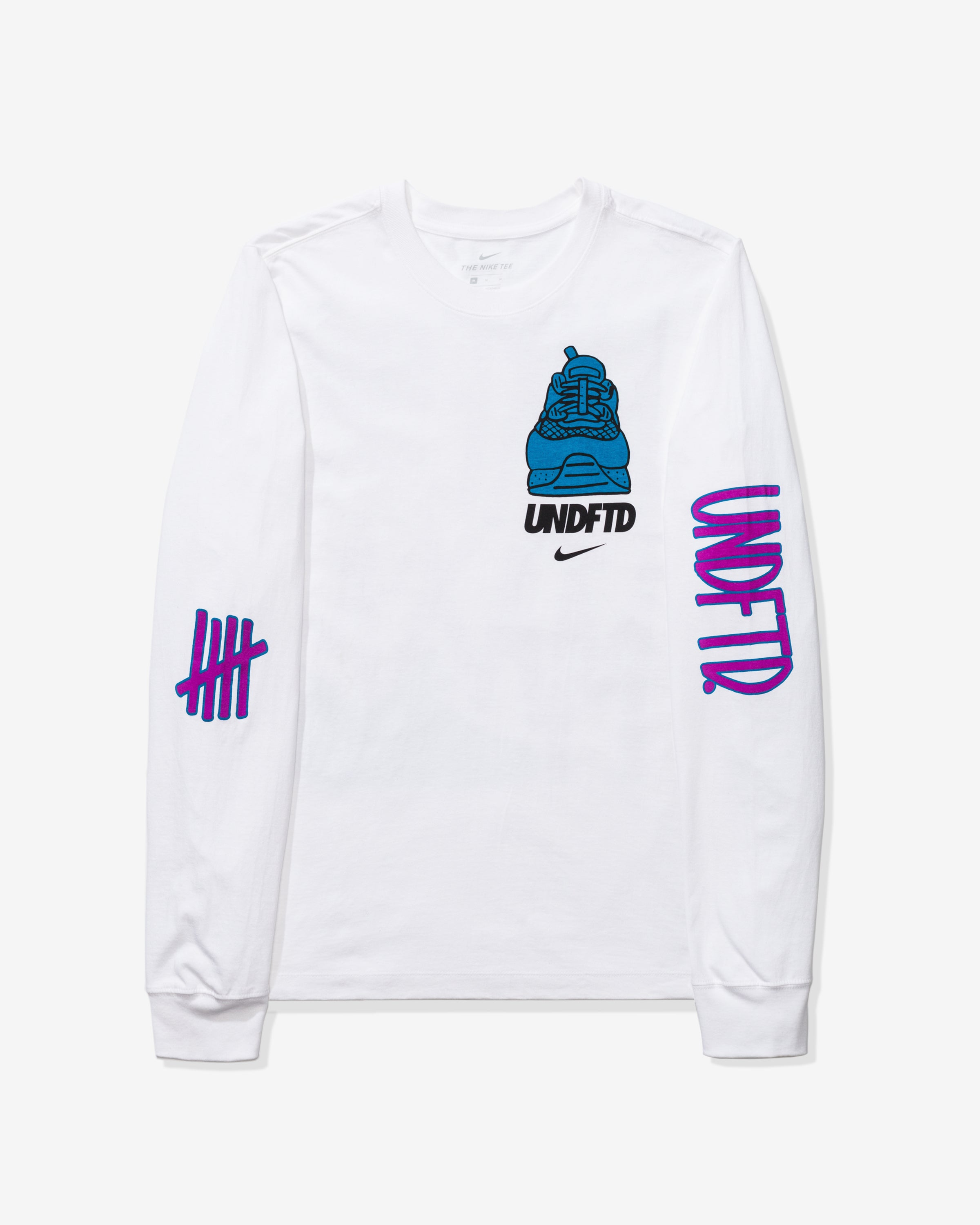 NIKE X UNDEFEATED AIR MAX 90 LS TEE - WHITE