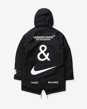 NIKE X UNDERCOVER NRG TC PARKA FISH TAIL 3L - BLACK/WHITE