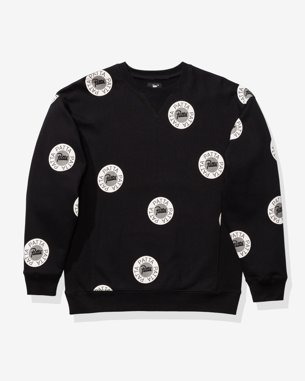 PATTA EMBLEM CREWNECK SWEATER - BLACK