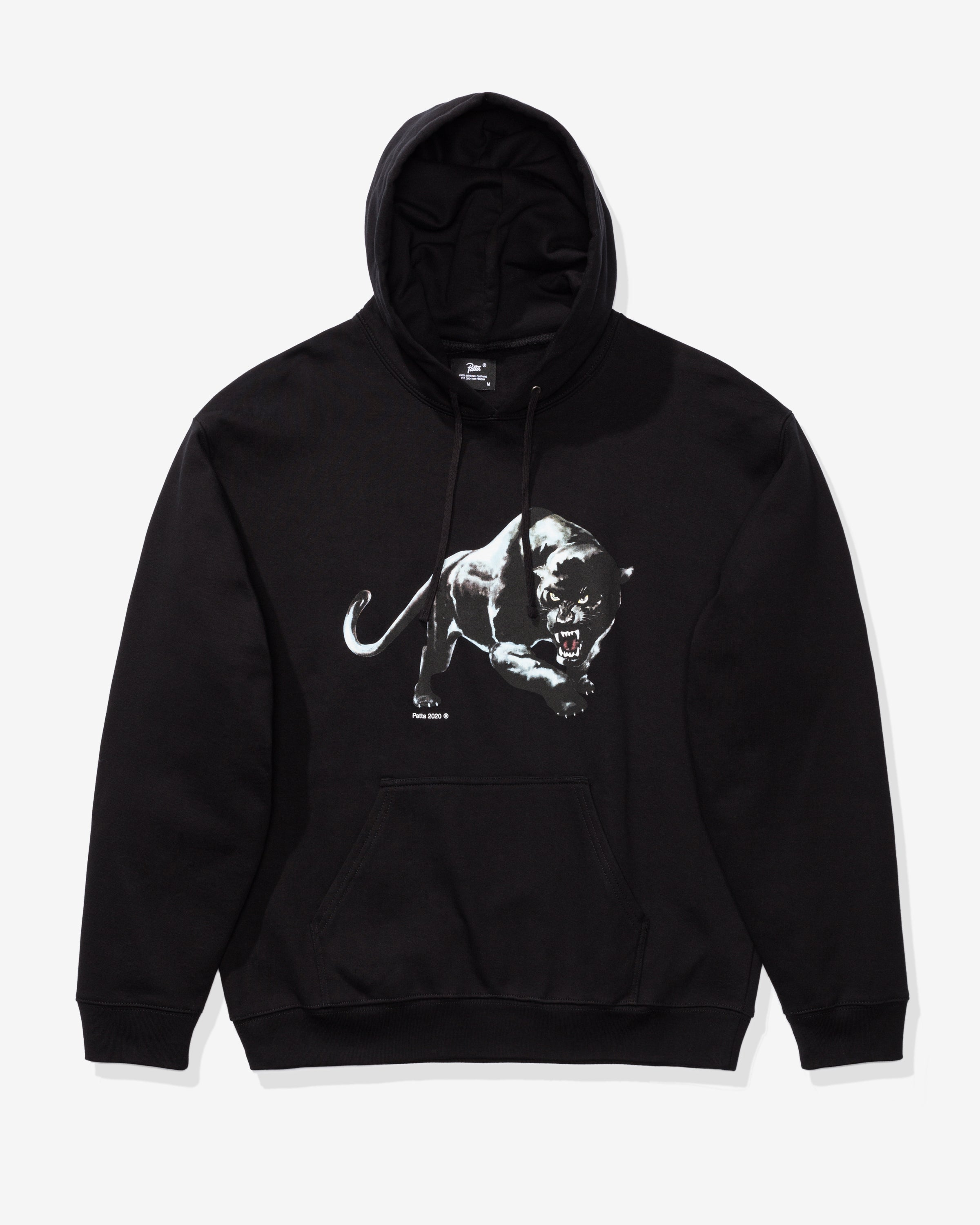 PATTA PANTHER HOODED SWEATSHIRT - BLACK