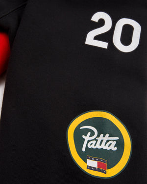 PATTA X TOMMY HOODIE - BLACK/ HIGHRISKRED