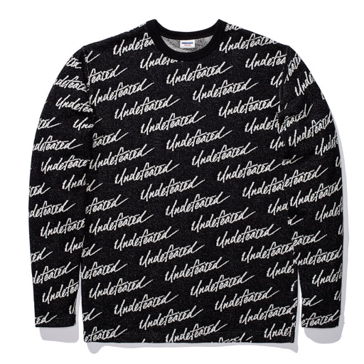 UNDEFEATED JACQUARD L/S TOP - BLACK