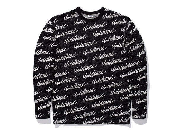 UNDEFEATED JACQUARD L S TOP - BLACK b5d4b607bc2e
