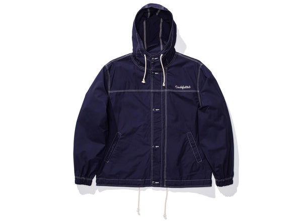 UNDEFEATED POPLIN ANORAK - NAVY
