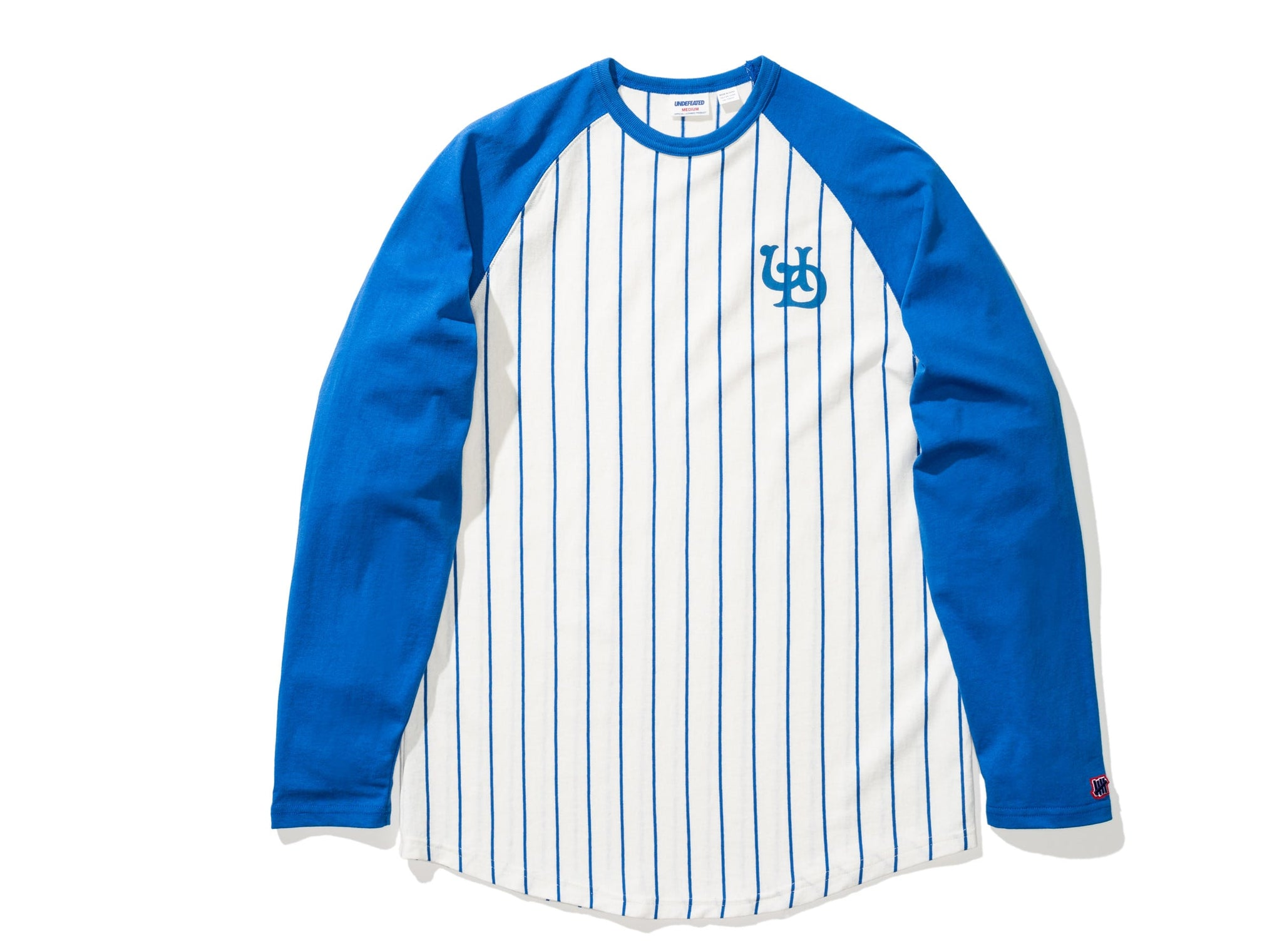 UNDEFEATED STRIPED L/S BASEBALL TEE