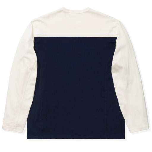 UNDEFEATED COLORBLOCKED L/S FOOTBALL TEE - NAVY/CREAM Image 2