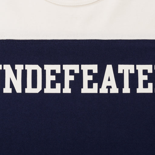 UNDEFEATED COLORBLOCKED L/S FOOTBALL TEE - NAVY/CREAM Image 3