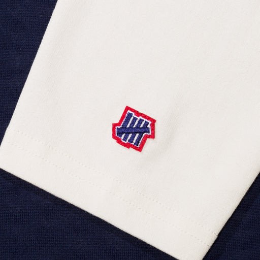 UNDEFEATED COLORBLOCKED L/S FOOTBALL TEE - NAVY/CREAM Image 4