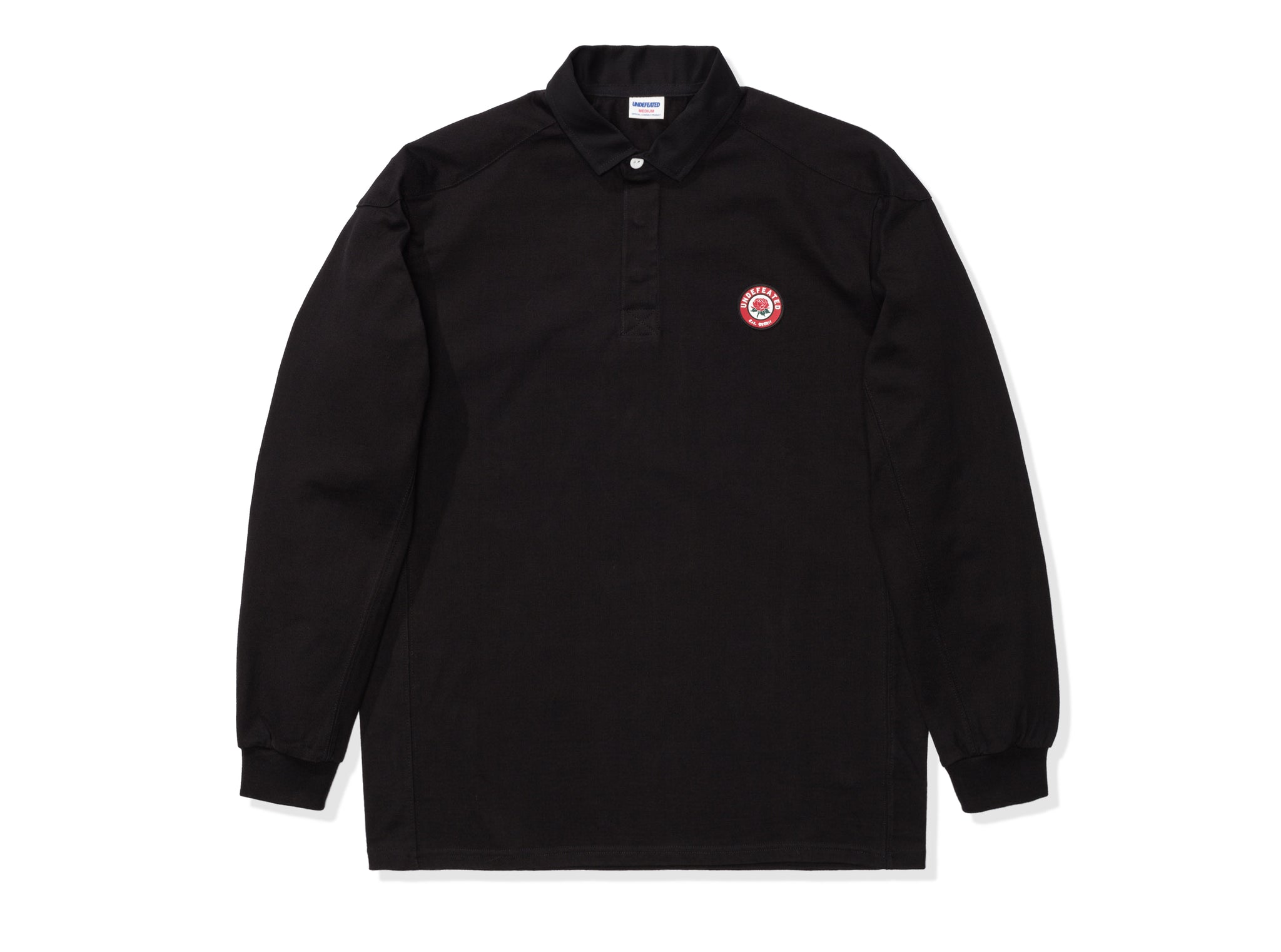 UNDEFEATED PANELED L/S RUGBY - BLACK