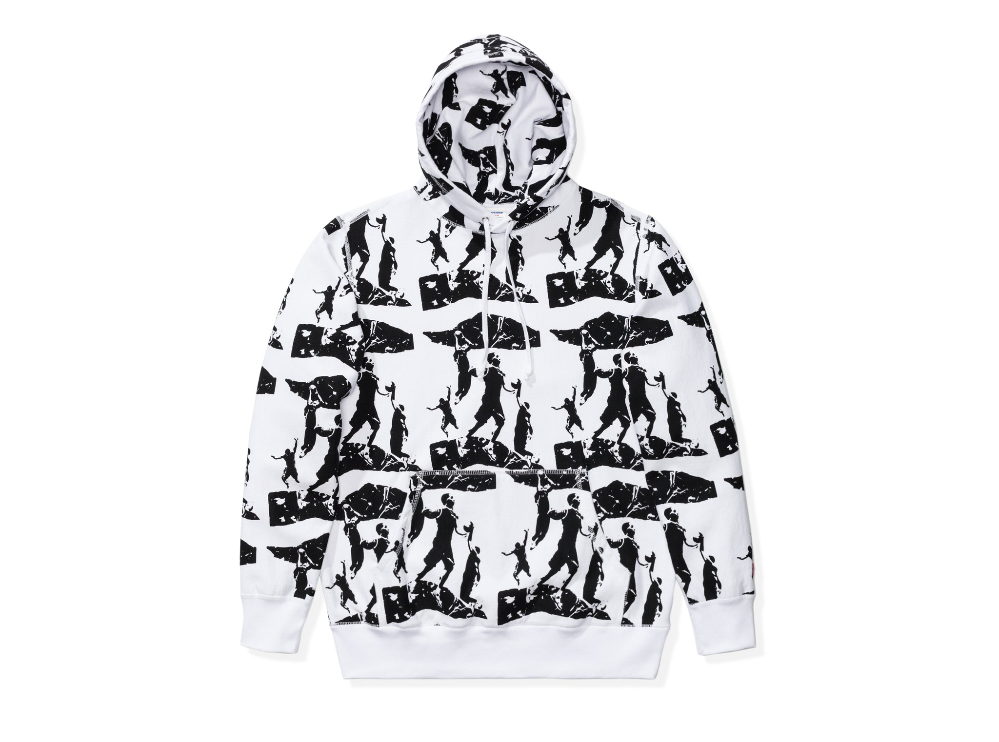 UNDEFEATED PRINTED PULLOVER HOODIE - WHITE