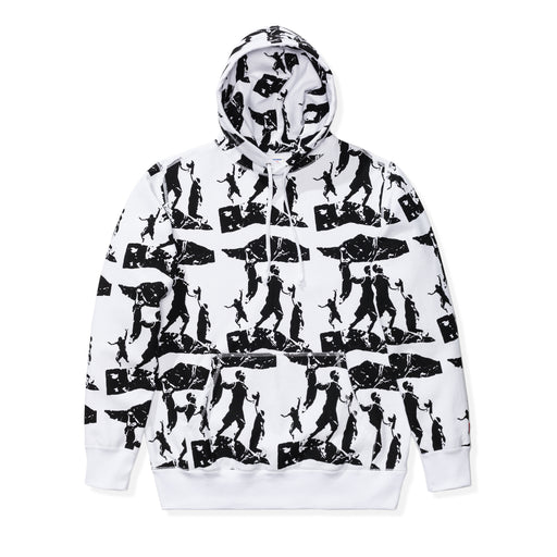 UNDEFEATED PRINTED PULLOVER HOODIE - WHITE Image 1