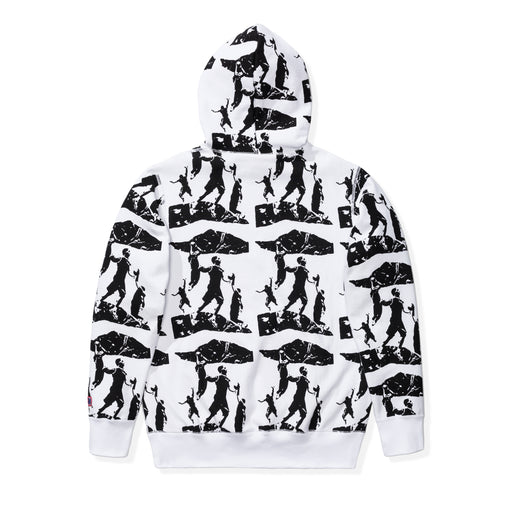 UNDEFEATED PRINTED PULLOVER HOODIE - WHITE Image 2