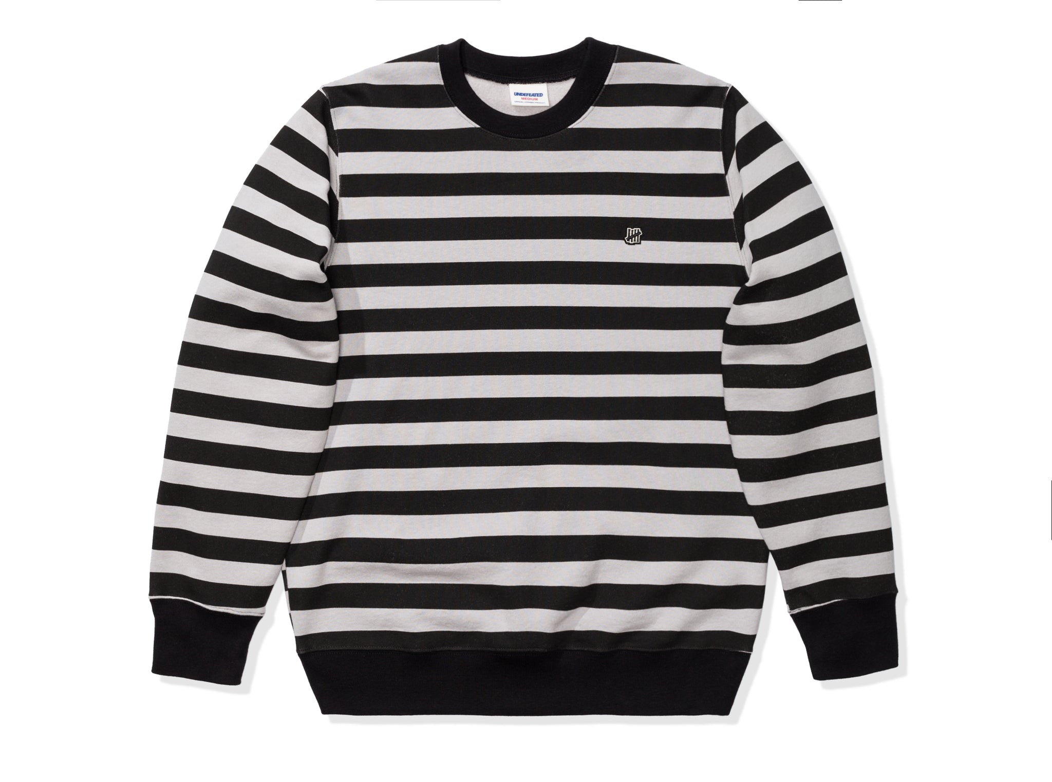 UNDEFEATED STRIPED CREWNECK