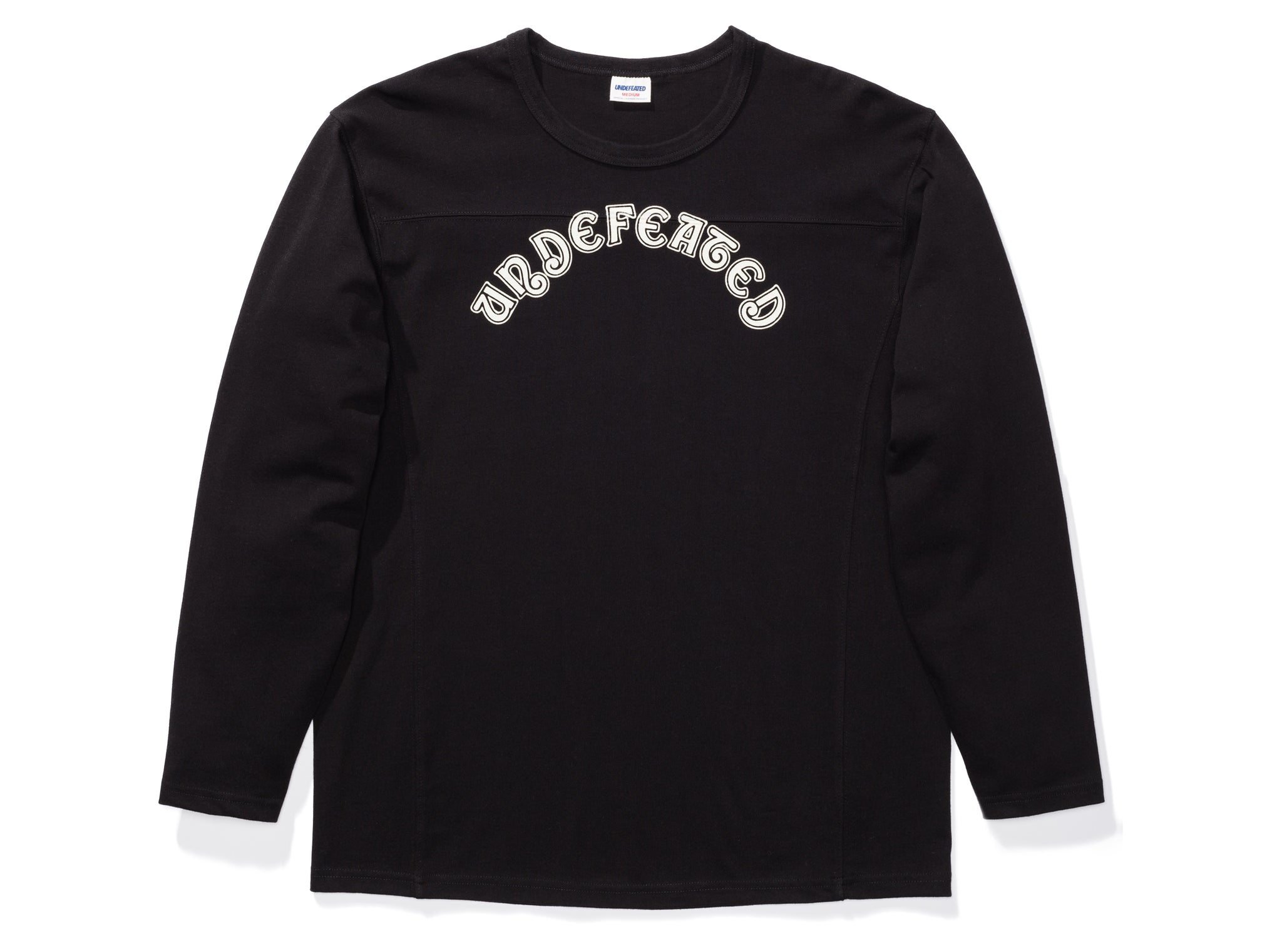UNDEFEATED L/S FOOTBALL JERSEY - BLACK