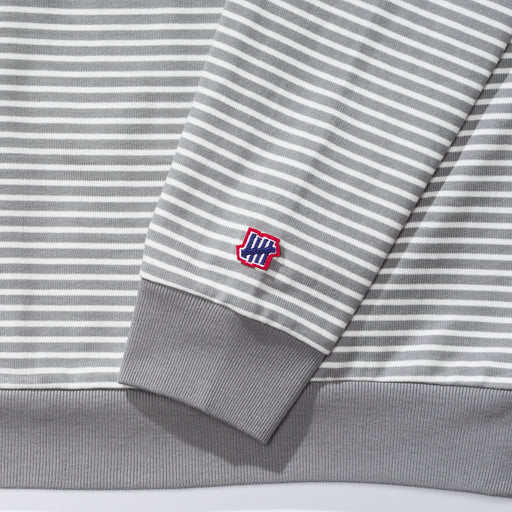 UNDEFEATED STRIPED L/S TOP - GREY Image 4