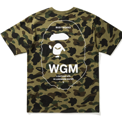 1ST CAMO BATHING APE HEAD TEE