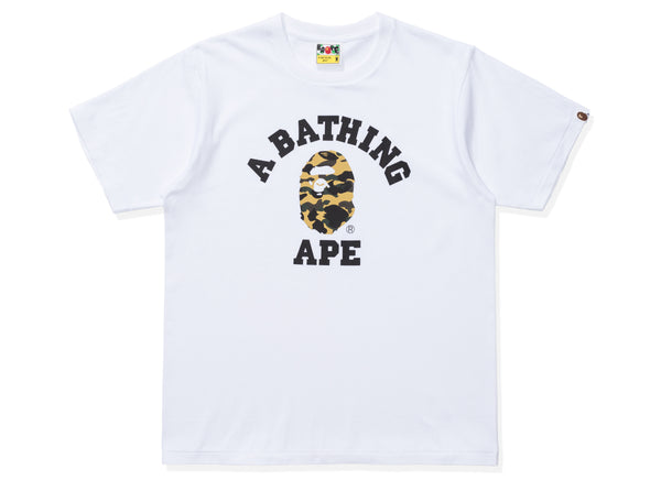 351769fb1 BAPE 1ST CAMO COLLEGE TEE - WHITE